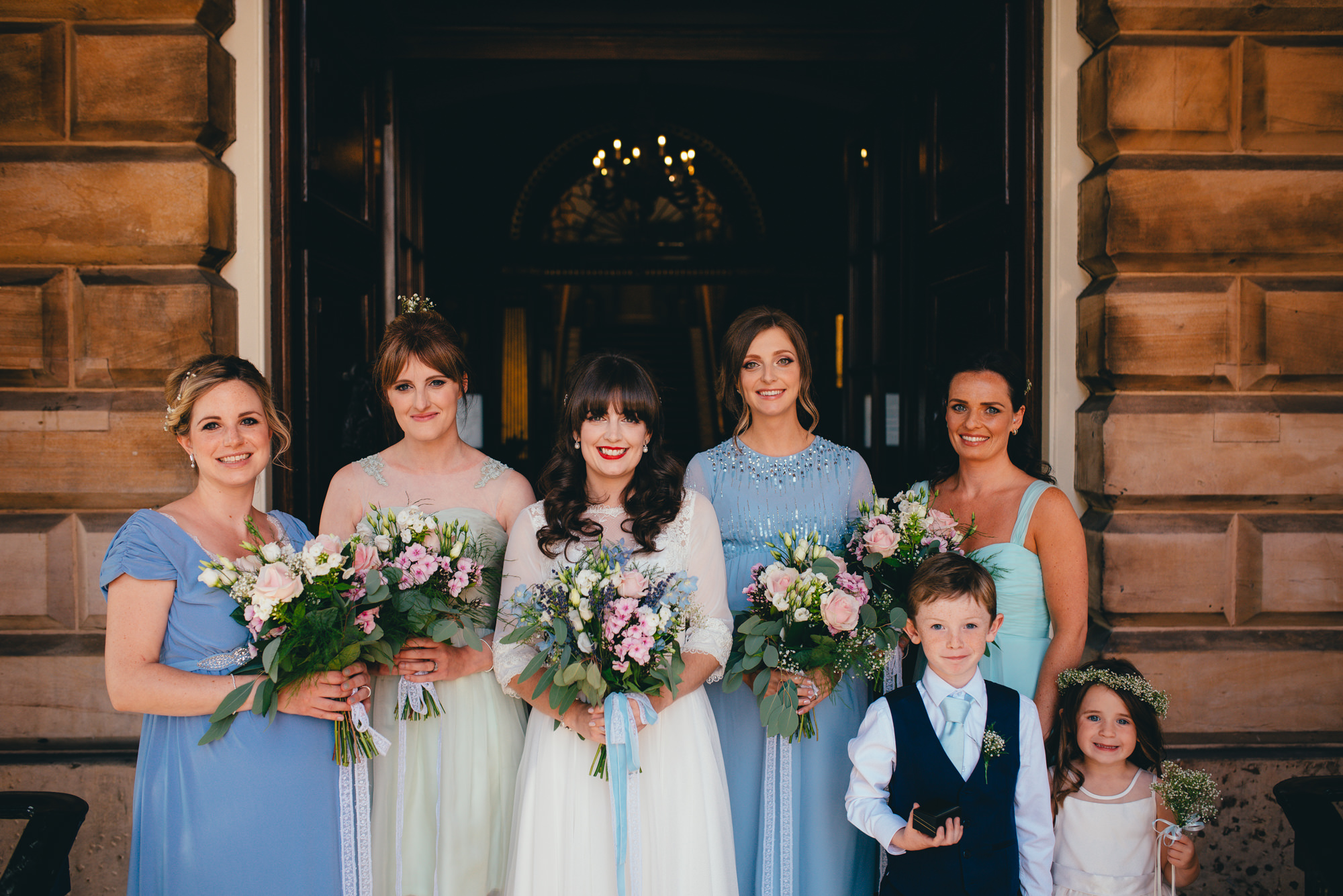 pastel maid of honour dresses